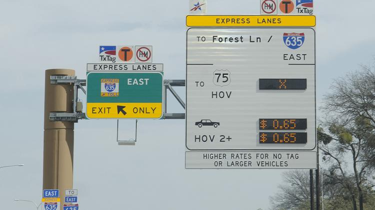 The managed toll lanes will have different prices for different times and traffic loads.