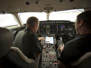 XOJet pilots in cockpit