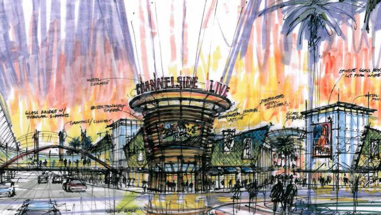 "CBP presented a vision of ""Channelside Live"" as seen in this rendering."