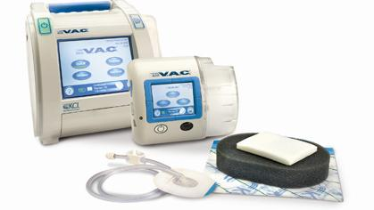 Images of the V.A.C. system sold by Kinetic Concepts Inc. The InfoV.A.C.® System, left, is a wound healing therapy system designed for patients in the acute care setting. The ActiV.A.C.® System, right, is designed for ambulatory patients and is used primarily in the home care setting.