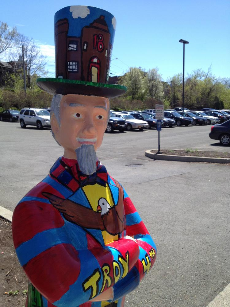 At least 16 Uncle Sam statues from downtown Troy, NY are being auctioned off online.