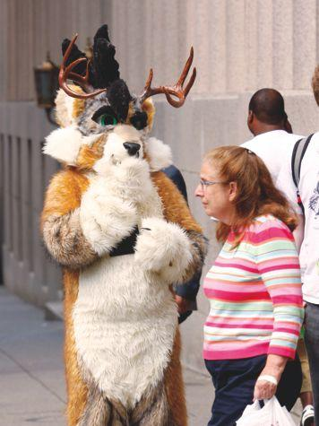 A visitor to a previous stop by the Anthrocon furry convention in Pittsburgh.