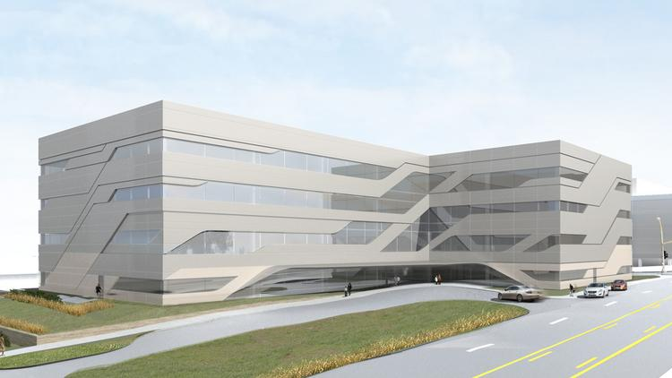 Rendering of the new 90,000-square-foot outpatient hospital that will be at 2101 Charlotte St. in Kansas City