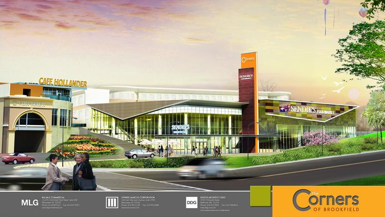 The Corners will include a Sendik's Food Market, Von Maur and Lowlands Group restaurant, possibly a Cafe Hollander.