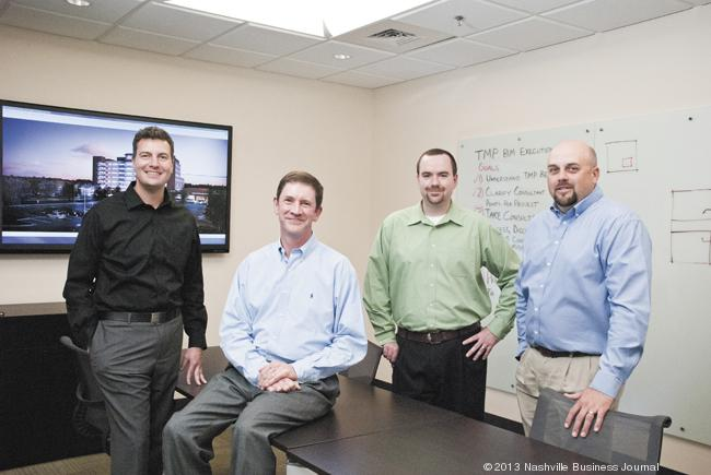 From left: Curtis Coleman, Marc Rowland, Drew Underwood and Reid Zwickel are health care principals with Thomas, Miller & Partners PLLC, a Nashville-based architecture firm that works with health care clients across the country.