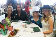 From left, Amy Whitham, J.D. Shelburne, Barbra Cothron and Camille Cothron were among the special guests at Celebrity Day at the Downs.