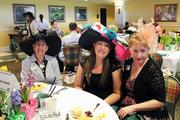 Cheryl Whalen, left, Nicolette Whalen and Ann Whalen visited Millionaires Row for Celebrity Day at the Downs.