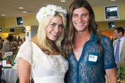 """Former """"Big Brother"""" contestants Ashley Iocco and Wil Heuser were among the special guests at Celebrity Day at the Downs."""
