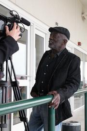 """Actor Garrett Morris, a former """"Saturday Night Live"""" cast member and currently a cast member of CBS's """"Two Broke Girls,"""" gave a media interview during Celebrity Day at the Downs."""