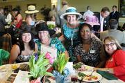Ladies at the Kroger table, from left, were: Heather Gaither, left, Debby Burden, Carolyn Ives, Joella Comstock and Melissa Yingling.