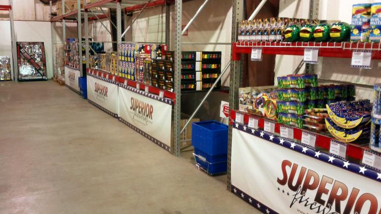 Superior Fireworks does 60 percent of its business during the Fourth of July season.
