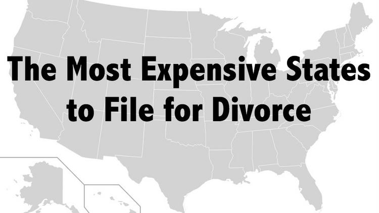 Filing for divorce isn't cheap, but it's more expensive in some states compared to others.
