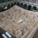 When navigating National Building Museum's BIG Maze, here's a hint: Look up (Video)