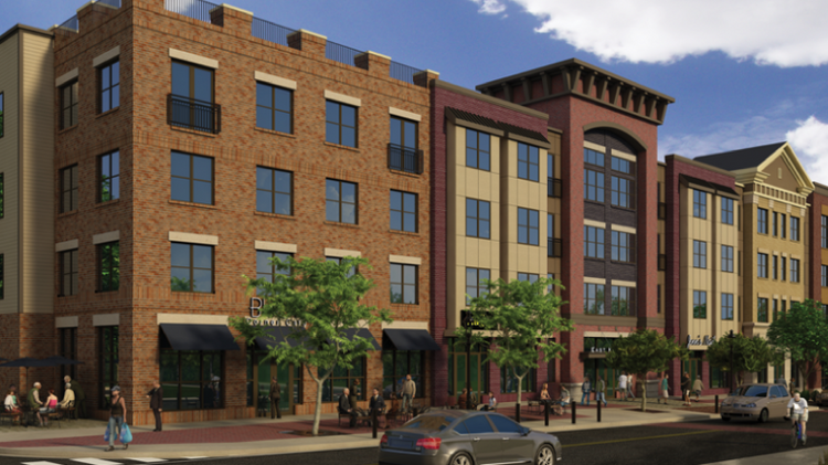 The complex takes up nearly three blocks along King Street in Malvern, Pa.