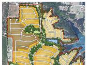 Plans for the community include a pool, parks, walking trails, natural ponds and other resident amenities that bring residents into the natural topography of the tract adjacent to Lake Lewisville.