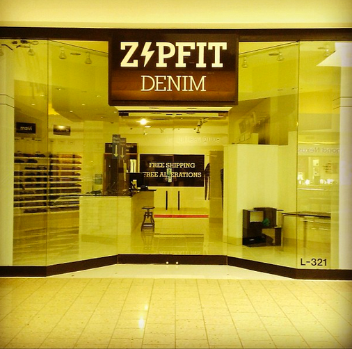 ZipFit Denim has just opened its second store in the Woodfield Mall in suburban Schaumburg.