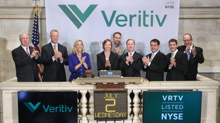 Executives from Veritiv Corp. rang the New York Stock Exchange bell on July 2.