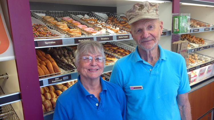 Joyce and Groover Blitch have operated the Dunkin' Donuts on Capital Boulevard in Raleigh since it opened in 1968.