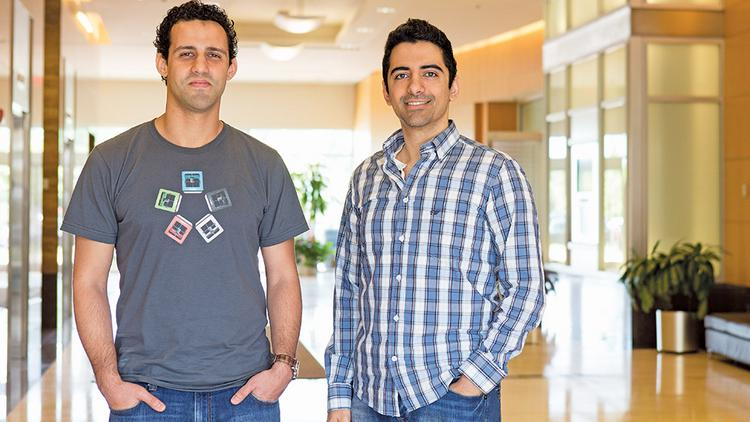 David Jones, left, and Michael Armani founded M3D. The co-founders raised $3.4 million using crowdfunding. The pair said they chose crowdfunding to get things moving without having to give up creative control.
