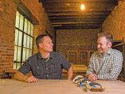 Corey Fleischer, left, and Gene Shirokobrod founded Verve LLC. The pair raised $30,295 and chose Kickstarter because it was more selective and had the largest following among crowdfunding websites.