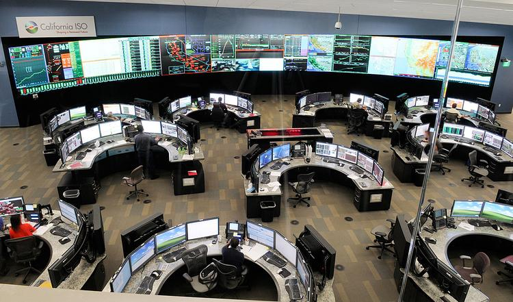 The control room at the California Independent System Operator headquarters in Folsom keeps an eye on the electricity supply throughout the state.