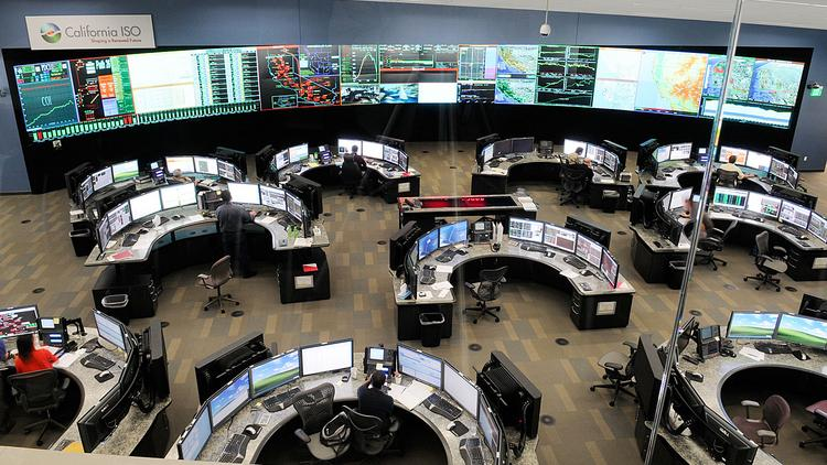 The control room at the California Independent System Operator headquarters in Folsom keeps an eye on electricity supply throughout the state.