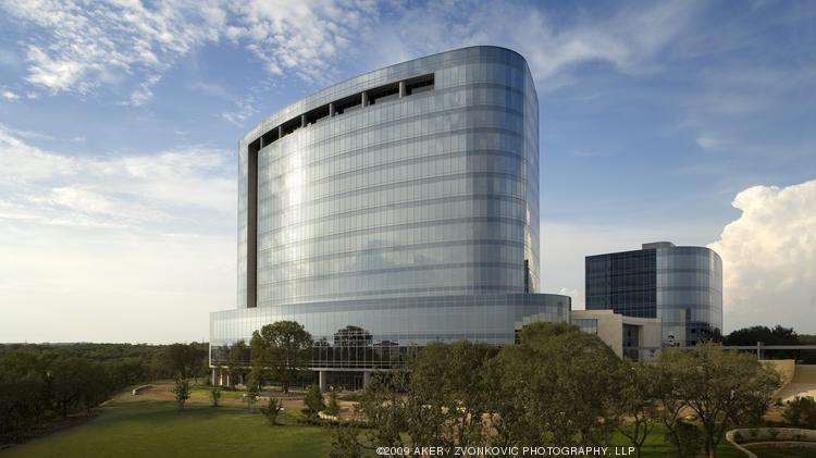Tesoro Corp.'s corporate headquarters in San Antonio. The refining company reported a 1 percent increase in net profits for the second quarter of 2014.