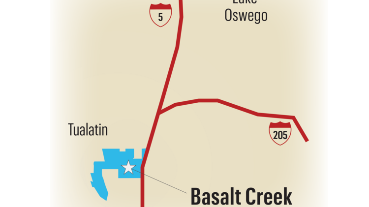 The cities of Tualatin and Wilsonville are gathering input on how to develop the 850-acre Basalt Creek area along Interstate 5