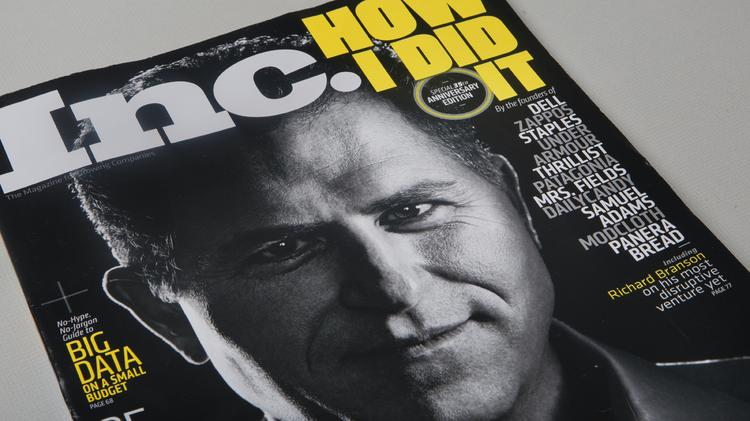 Dell Inc. CEO Michael Dell graces the cover of the July/August 2014 edition of Inc. magazine.