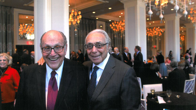 Steven Gadon (left), managing partner of Spector Gadon & Rosen, died Friday at the age of 82. He's pictured here with Paul Rosen, his long-time partner in the firm.