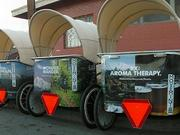 Pedicabs in Austin will carry the Mt. Hood tourism message.
