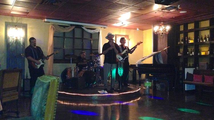 T.C. Carr and his band perform at Moscato's Underground on a recent Saturday night.