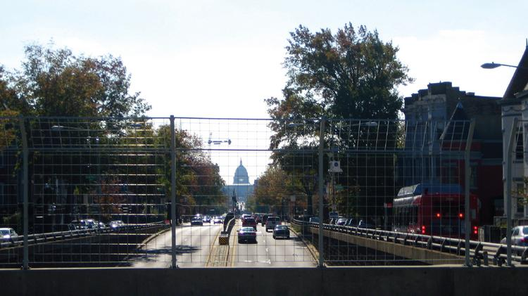 The view down North Capitol Street, looking toward the U.S. Capitol. The general area, called Mid City East, is the subject of a small area plan that is now available for public comment.