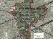 The boundaries of Mid City East, the subject of a small area plan update.