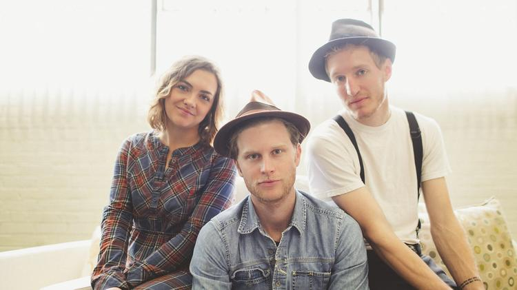 Neyla Pekarek (left) joined Wesley Schultz and Jeremy Fraites after the two men relocated to Denver.