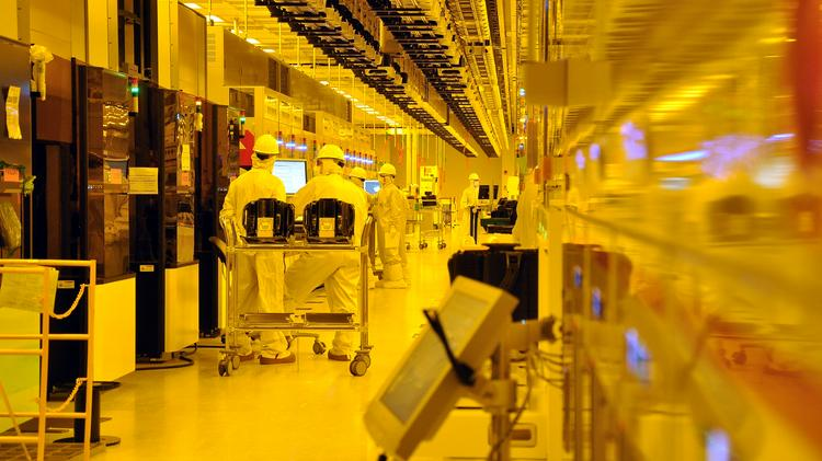 GlobalFoundries computer chip manufacturing area inside its Malta, New York comlex.