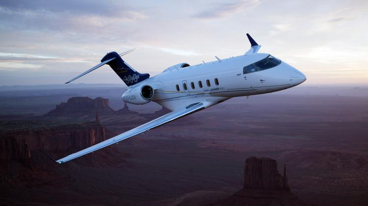 Bob Evans and Greif co-own a Bombardier Challenger 300 like this one seen in a promotional image from the corporate jet maker. Click on the next image for a look at the interior.