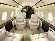 """Bombardier says its Challenger jets' """"spacious cabins provide exceptional passenger comfort, as well as a working environment with ample space for operator consoles and mission system electronics."""""""
