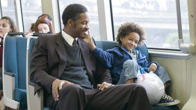"""Will Smith, left, and Jaden Smith, right, in the movie """"The Pursuit of Happyness."""" Smith will come to Pittsburgh for a movie called """"Game Brain,"""" according to the Pittsburgh Tribune-Review."""