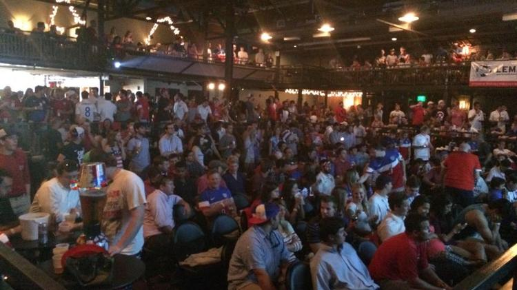 Fans watch the 2014 World Cup at Birmingham's Iron City.