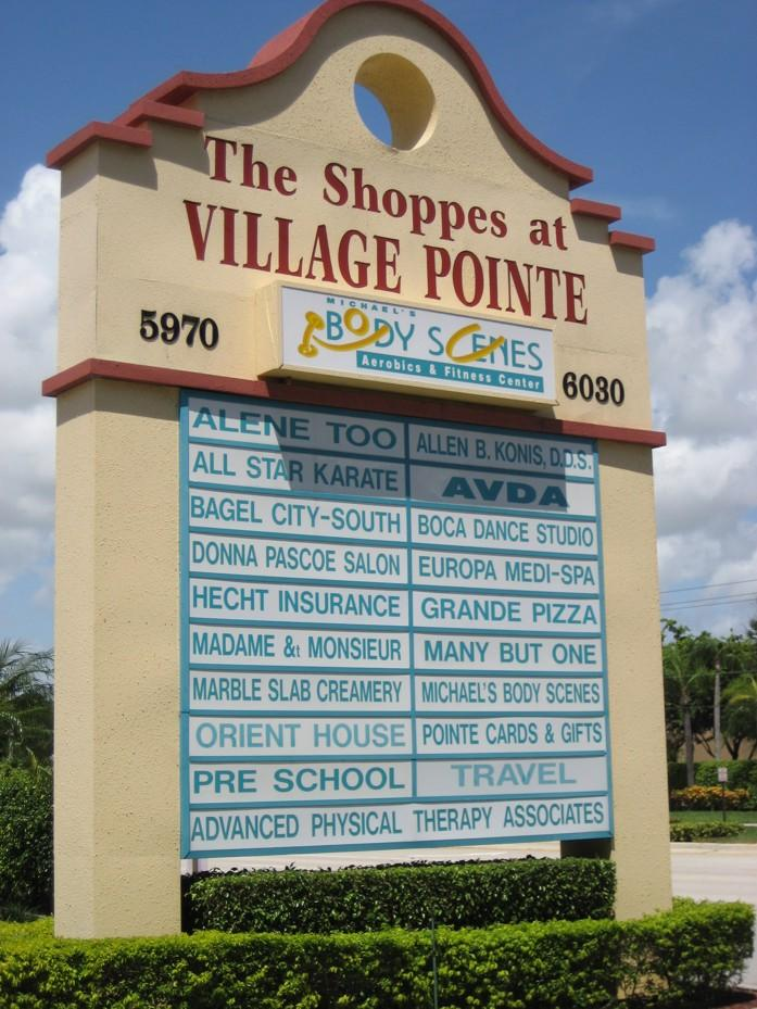The Shoppes at Village Pointe in Boca Raton was sold.