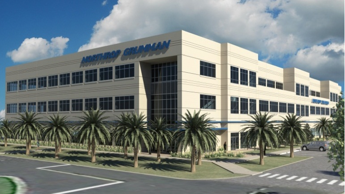 Rendering of Northrop Grumman's Building 229 at its complex near Melbourne International Airport
