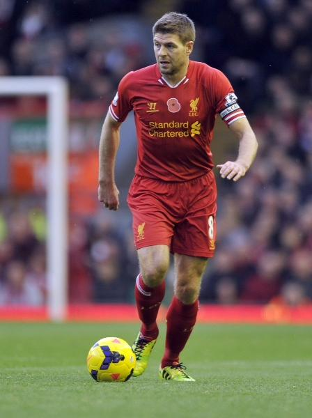 Footballer Steven Gerrard will be on the Liverpool team that plays Olympiacos at Chicago's Soldier Field on July 27.  Gerrard is also captain of England's national football team.