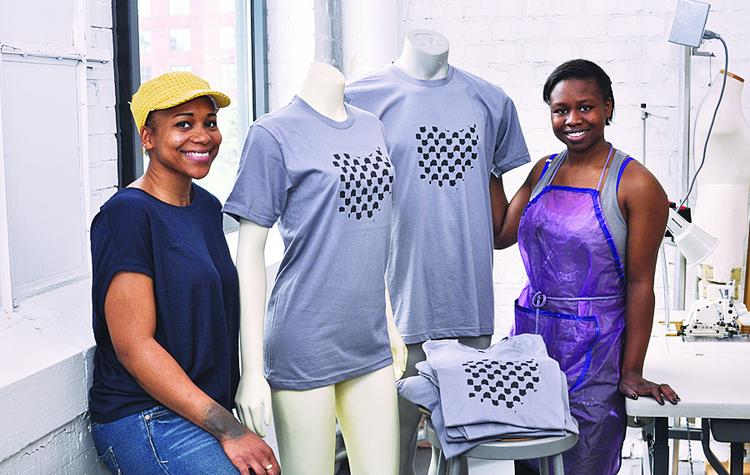 Danielle Jones, left, and Ashleigh Jones are part of a group of CCAD students who will sell their creations May 4 at a pop-up store at Easton.