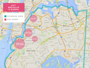 Lyft's service territory for its NYC launch on Friday.