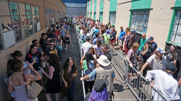 Hundreds of people waited in line to buy pot at Cannabis City in Seattle last month on the first day pot became legal in Washington state.