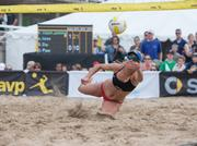 Kerri Walsh Jennings, Olympic gold medalist, won the women's tournament with partner April Ross.