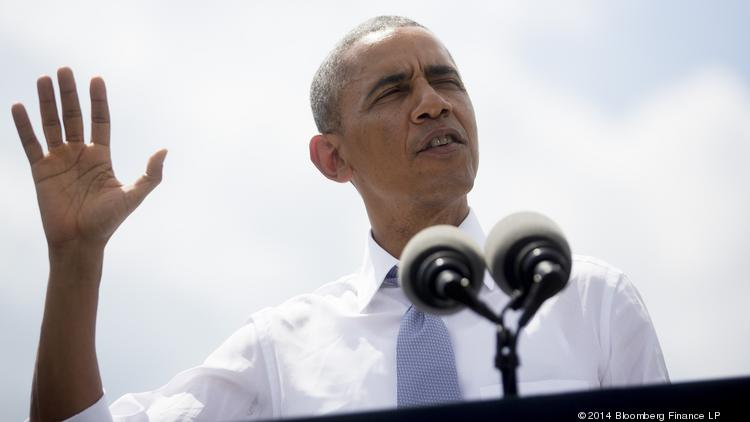 President Barack Obama visited Dallas on Wednesday to talk about the border crisis and to raise money for Democratic candidates.