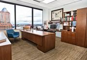 A private office overlook at Bullard Law overlooks KOIN Center.