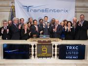 TransEnterix Chief Executive Officer Todd M. Pope rings the Opening Bell at the New York Stock Exchange on July 9, 2014 in New York City.